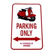 "Stickers autocollant Vespa ""PARKING ONLY"